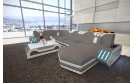 Designer Sofa CLERMONT XL mit LED Beleuchtung