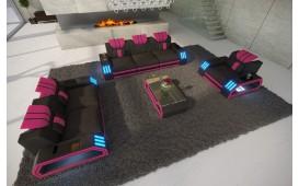 Canapé Design CLERMONT 3+2+1 avec éclairage LED