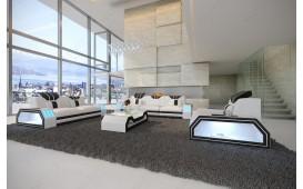 Designer Sofa CLERMONT 3+2+1 mit LED Beleuchtung