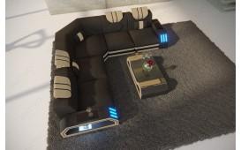 Canapé Design CLERMONT CORNER avec éclairage LED