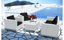 Salon Lounge en rotin MEMFIS jardin (4 pièces) V2