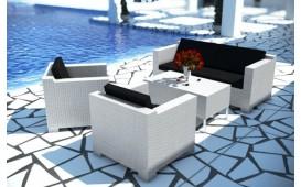 Rattan Lounge MEMFIS Gartenset (4.tlg.) v1