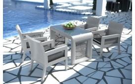 Set da pranzo Lounge in rattan LUNA giardino (5 pezzi) V2