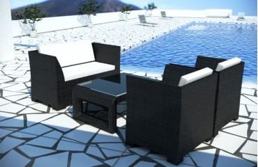 Rattan Lounge CHICO Gartenset (4tlg.) v1