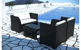 Salon Lounge en rotin CHICO jardin (4 pièces) V1