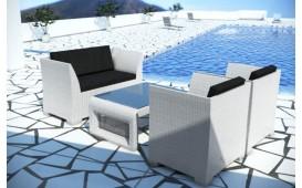 Rattan Lounge CHICO Gartenset (4tlg.) v2