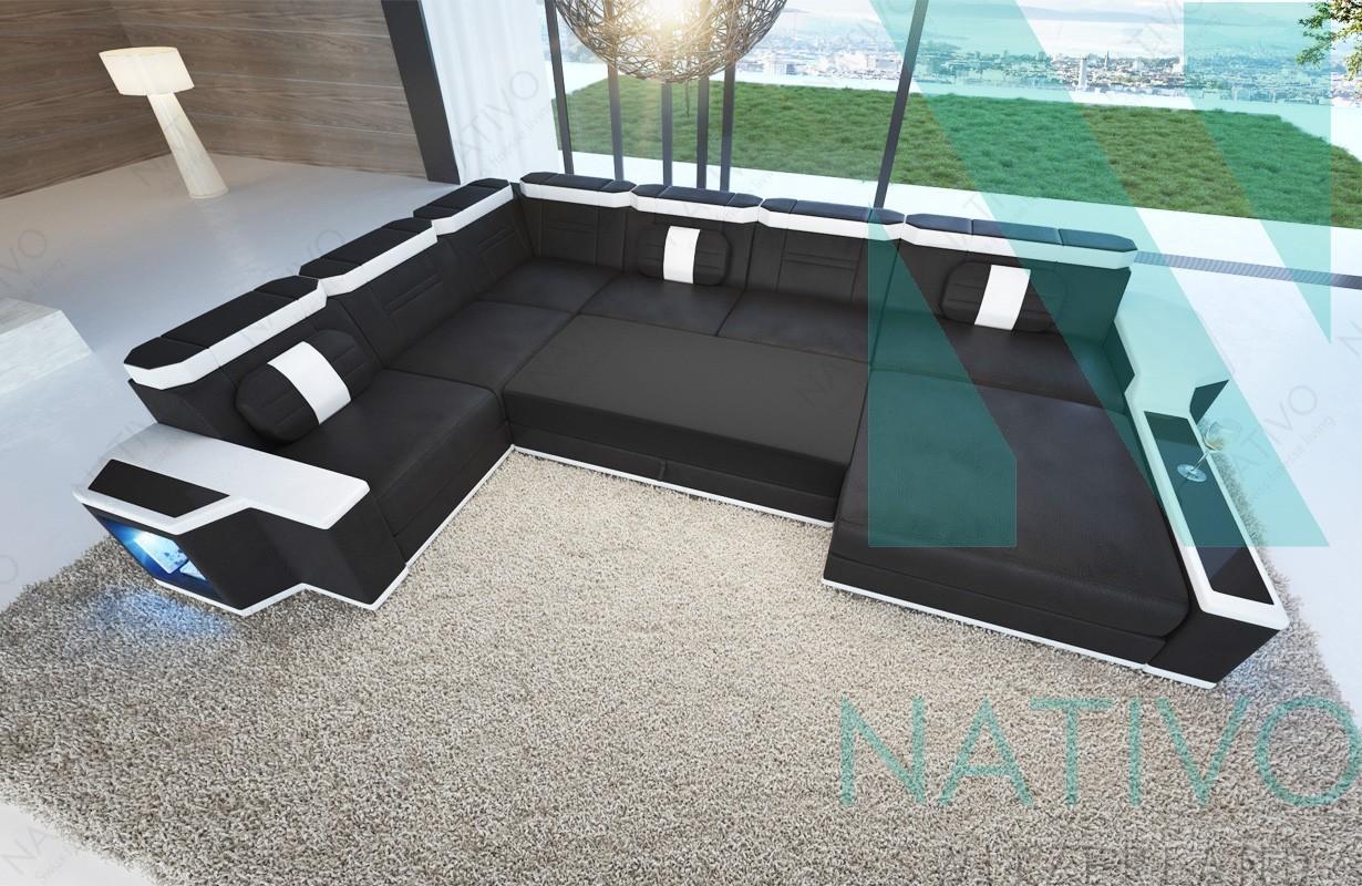 designer ledersofa cesaro xxl im nativo m bel online shop bestellen. Black Bedroom Furniture Sets. Home Design Ideas