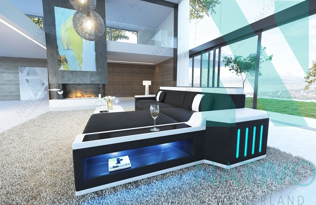 edles ledersofa cesaro mini bei nativo m bel schweiz. Black Bedroom Furniture Sets. Home Design Ideas