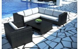 XXL Designer Rattan Lounge Sofa TORRO mit LED Licht