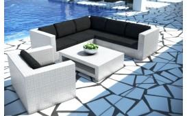 Lounge Set en rotin BARCELONA jardin V2