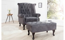 Designer Relaxsessel CHESTERFIELD GREY