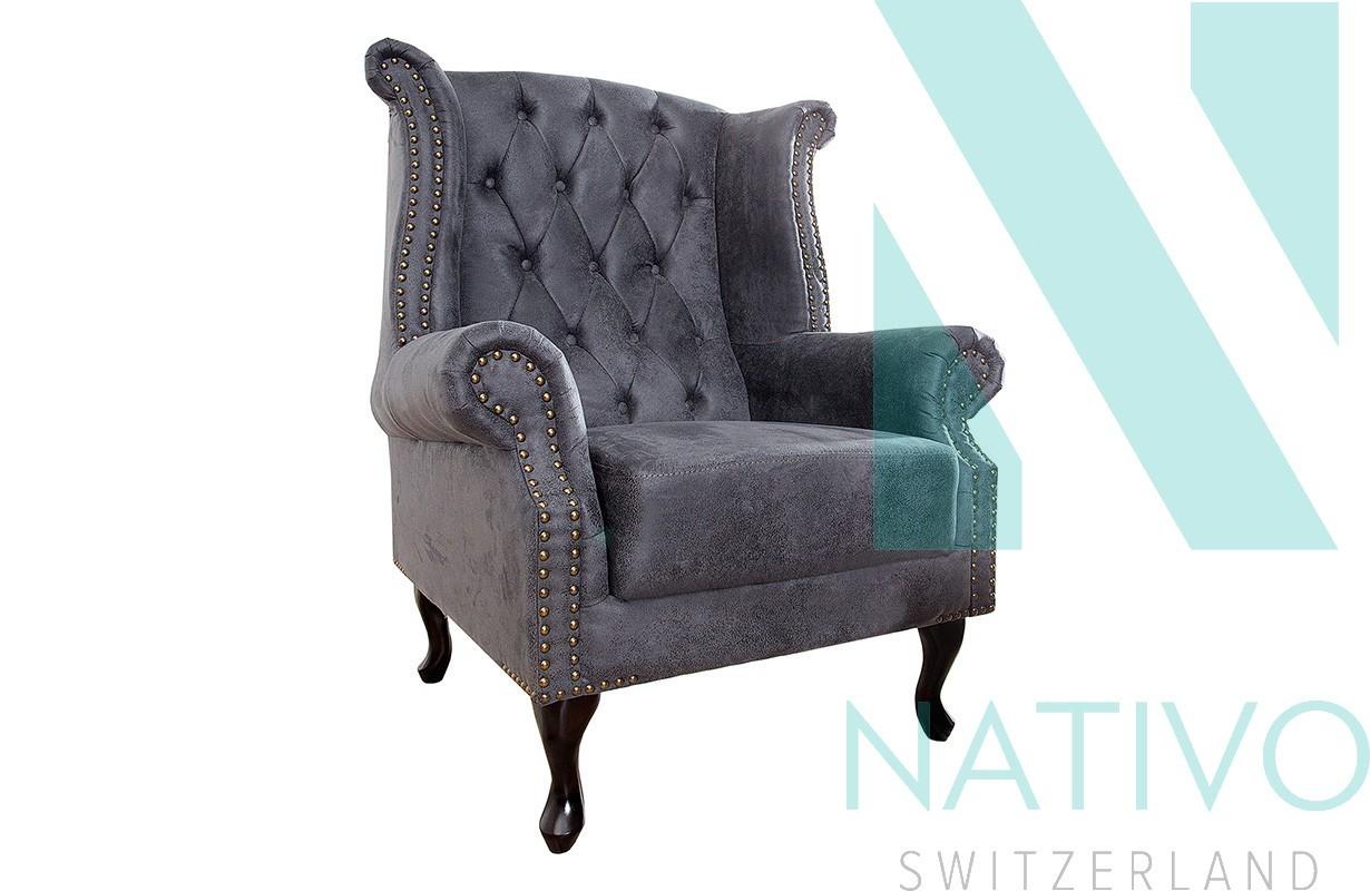relaxsessel chesterfield grey bei nativo m bel schweiz g nstig kaufen. Black Bedroom Furniture Sets. Home Design Ideas