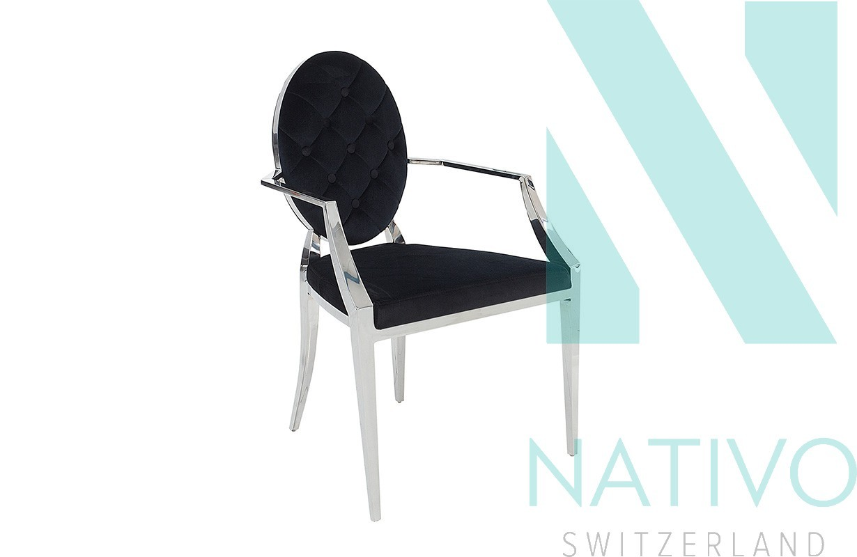 chaise design rocco ii avec accoudoirs nativo suisse prix sold s. Black Bedroom Furniture Sets. Home Design Ideas