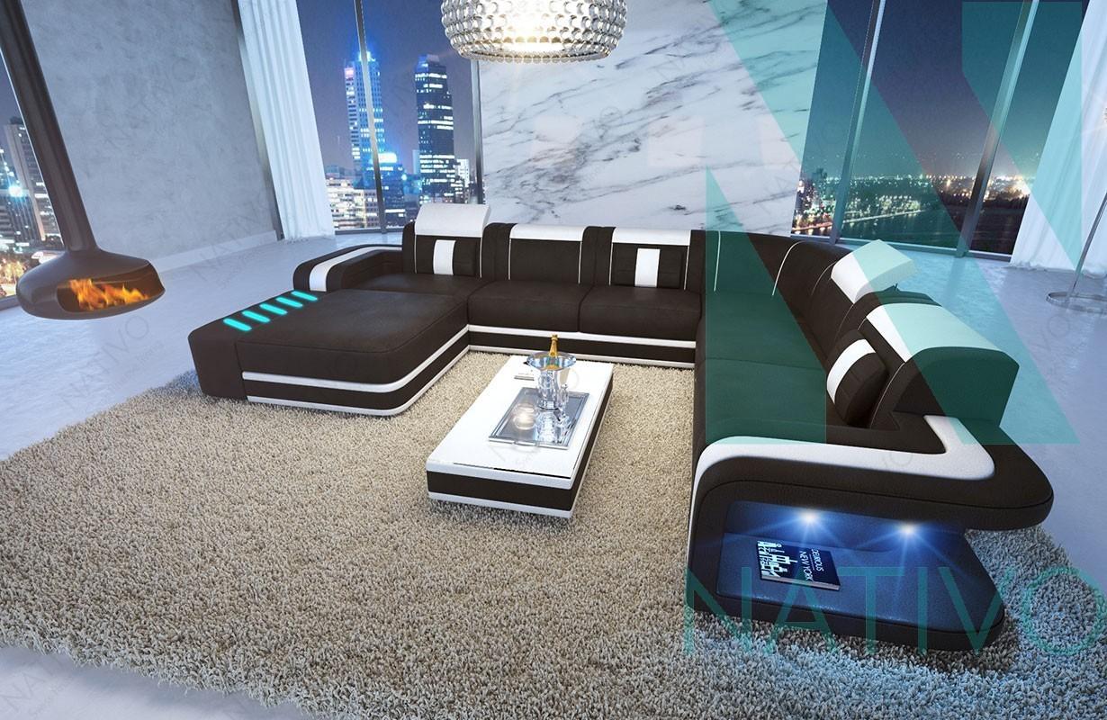 Canap design space xxl en cuir nativo magasin de meubles for Canape xxl design