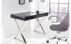 Bureau design bern table simpla grey for Mobilier bureau 974