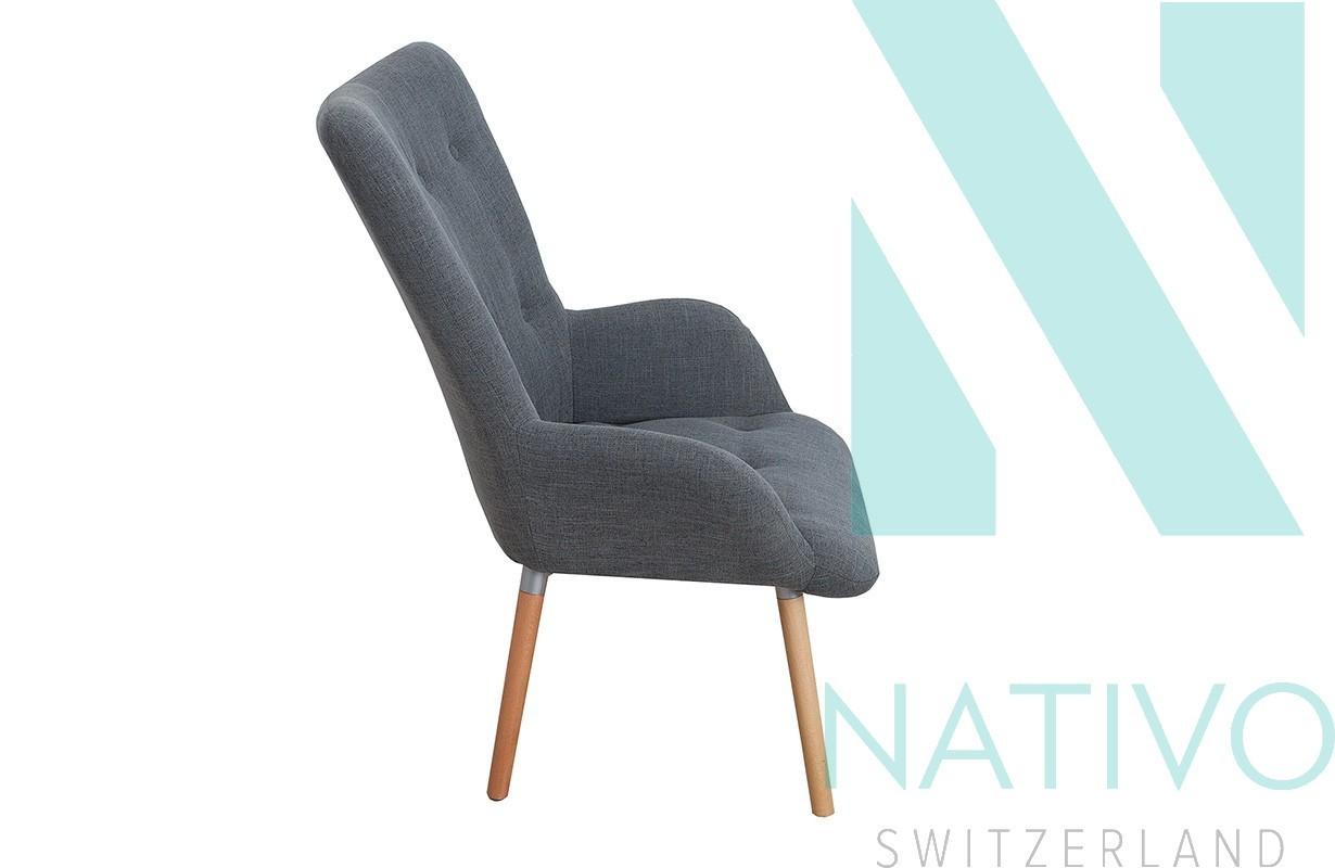 Lounge sessel man grey set bei nativo m bel schweiz for Designer sessel outlet