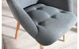 Designer Lounge Sessel MAN GREY SET mit Hocker