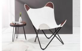 Designer Lounge Sessel ASTRA Leinen WHITE
