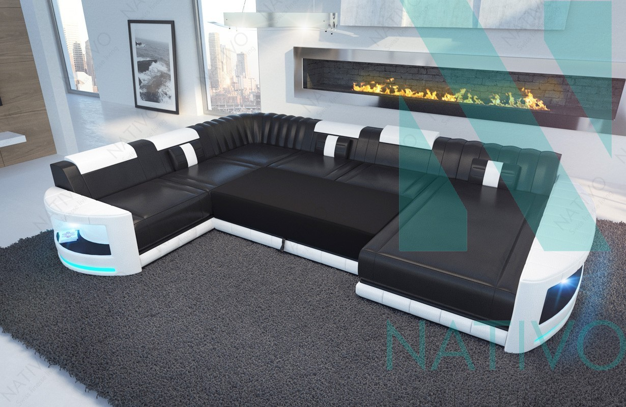 edles ledersofa atlantis xxl bei nativo m bel schweiz g nstig kaufen. Black Bedroom Furniture Sets. Home Design Ideas