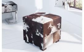 Designer Sitzhocker WESTERN BROWN