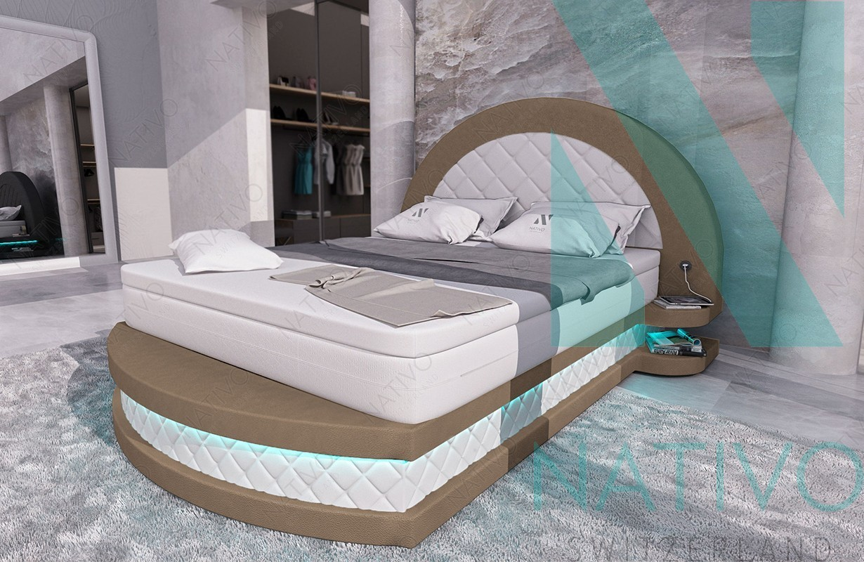 designer leder boxspringbett frankfurt nativo schweiz g nstig kaufen. Black Bedroom Furniture Sets. Home Design Ideas