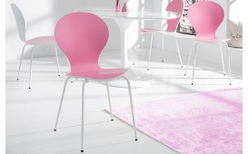 Designer Stuhl MODULO DUO PINK WHITE