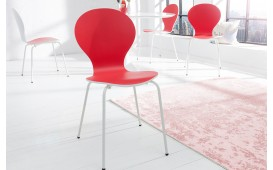 Designer Stuhl MODULO DUO RED WHITE
