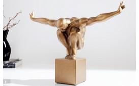 Designer Skulptur ATLETICO COPPER 45 cm