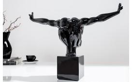 Designer Skulptur ATLETICO BLACK 45 cm