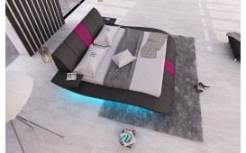 Designer Lederbett BERN V1 inkl. LED Beleuchtung & USB Anschluss
