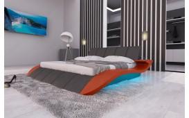 Letto di design BERN V2 con illuminazione a LED e presa USB