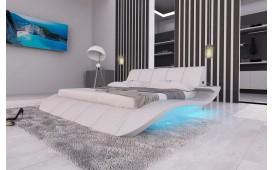 Designer Lederbett BERN V2 inkl. LED Beleuchtung & USB Anschluss von NATIVO Möbel Deutschland in Frankfurt