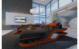 Designer Sofa HERMES XXL mit LED Beleuchtung