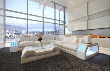 Designer Sofa CLERMONT CORNER mit LED Beleuchtung von NATIVO Möbel Schweiz
