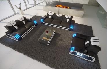 Designer Sofa CLERMONT 3+2+1 mit LED Beleuchtung von NATIVO Möbel Schweiz