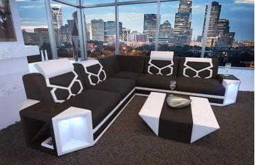 Designer Sofa AVENTADOR CORNER mit LED Beleuchtung von NATIVO Möbel Schweiz