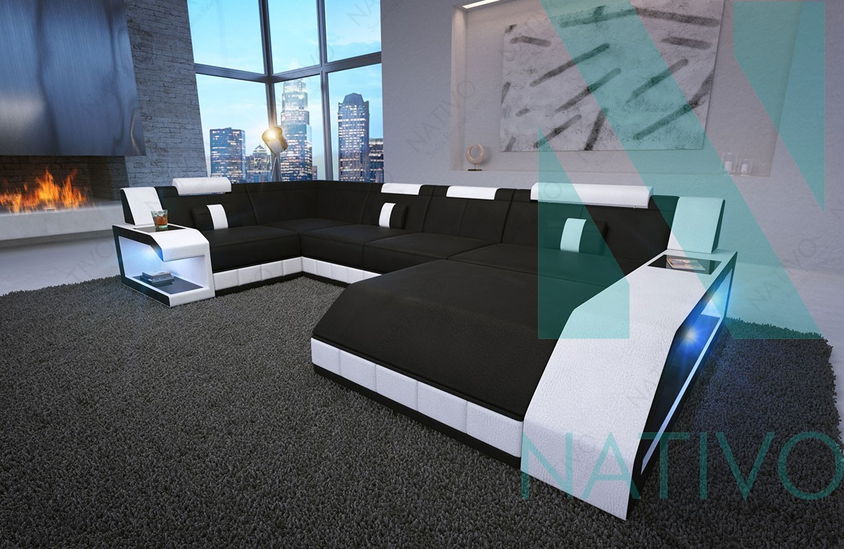 nativo m bel schweiz designer ledersofa matis xl online kaufen. Black Bedroom Furniture Sets. Home Design Ideas
