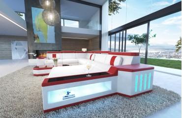 Canapé Design CESARO XXL avec éclairage LED