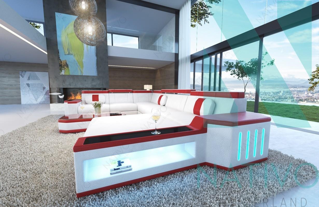 NATIVO Meubles Salon Canapé CESARO XXL - Canapé design italien avec canape design et confortable