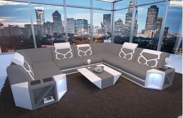 Designer Sofa AVENTADOR CORNER XL mit LED Beleuchtung von NATIVO Möbel Schweiz
