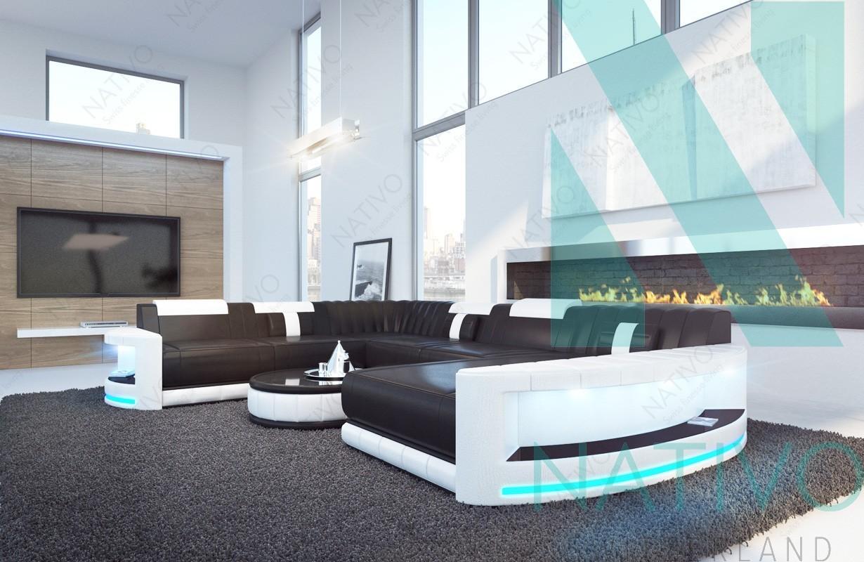 designer sofa atlantis xxl mit led beleuchtung von nativo mobel schweiz