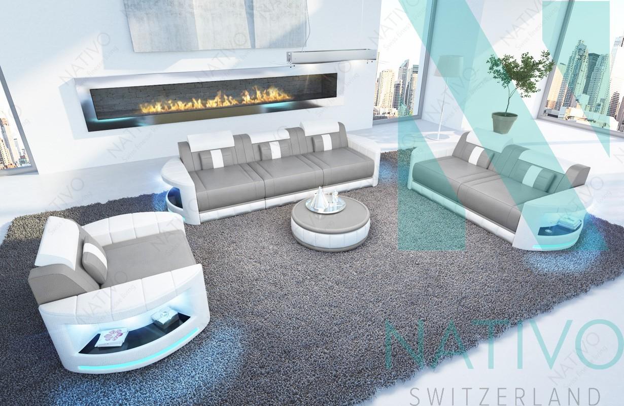 Ledersofa ATLANTIS 3+2+1 bei NATIVO Möbel Schweiz günstig kaufen