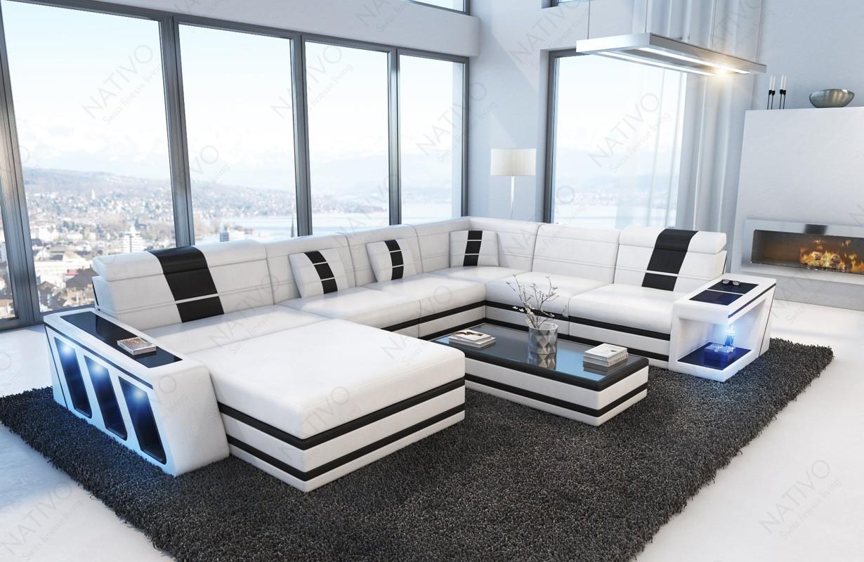 modernes ledersofa carezza xxl bei nativo m bel schweiz g nstig kaufen. Black Bedroom Furniture Sets. Home Design Ideas