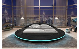 Lit tapissé MARS avec éclairage LED & port USB