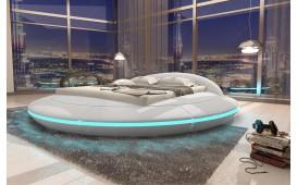 Designer Lederbett MARS inkl. LED Beleuchtung & USB Anschluss