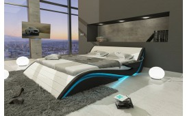 Lit Design HAMBURG avec éclairage LED & port USB