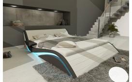 Designer Lederbett HAMBURG inkl. LED Beleuchtung & USB Anschluss von NATIVO Möbel Schweiz
