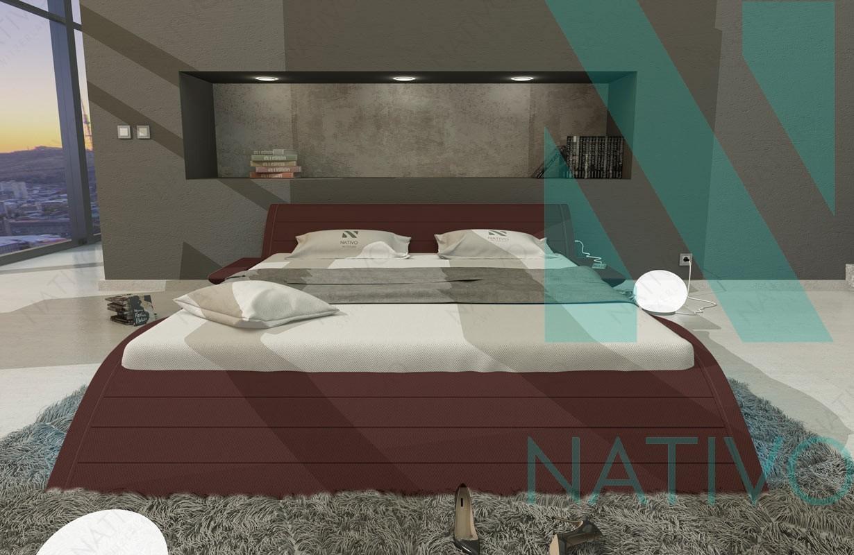 lederbett hamburg inkl usb anschluss nativo m bel schweiz. Black Bedroom Furniture Sets. Home Design Ideas