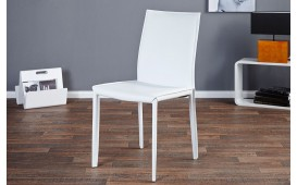 2 x Chaise Design TORINO WHITE