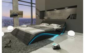 Designer Lederbett HAMBURG inkl. LED Beleuchtung & USB Anschluss
